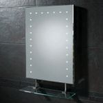 Hib Keo LED Bathroom Mirror with Shaver Socket and Glass Shelf